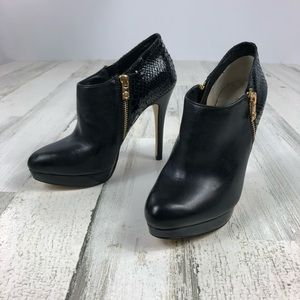 Michael Kors black leather booties size 6
